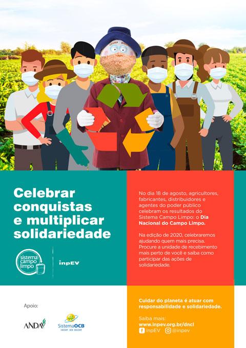 Cartaz do Dia Nacional do Campo Limpo adaptado ao momento atual